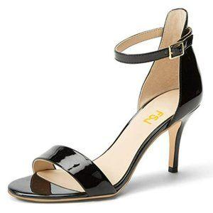 FSJ Comfy Open Toe Summer Sandal Ankle Strap Kitte